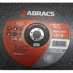 180 x 1.6 x 22mm Flat Metal Cutting Disc