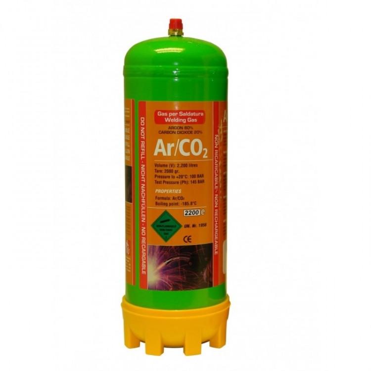 1.8 Litre Argon/CO2 Bottle