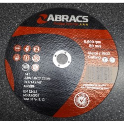 230 x 1.8 x 22mm Flat Metal Cutting Disc